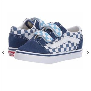 11.5 vans old skool true navy checkerboard shoes